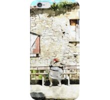 Laureana Cilento: bench with old women iPhone Case/Skin