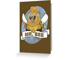 mr bee Greeting Card