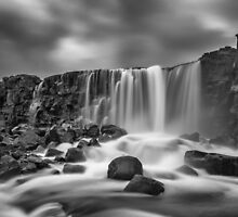 Oxararfoss Waterfall by Darren Brown