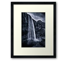 Blue Waterfall Framed Print
