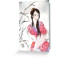 Red Demon Greeting Card