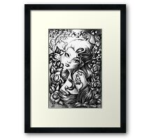 Lily and The Lizard Framed Print
