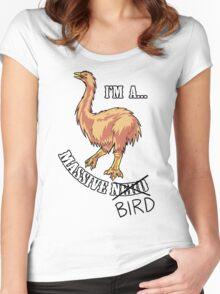 Aepyornis is a Massive Bird. Women's Fitted Scoop T-Shirt
