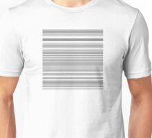 Gray and White Bar Code Design Unisex T-Shirt