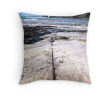 Port Gaverne Beach Throw Pillow