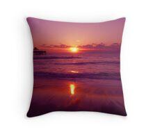 North Atlantic Ocean Sunrise Throw Pillow