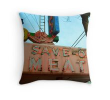 Save On Meats Throw Pillow