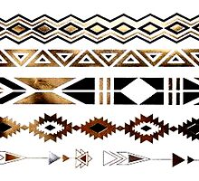 Tribal Aztec Gold and Black Design by NancyAnnDesign
