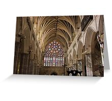 Exeter Cathdral, Devon, England Greeting Card