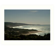 Harsh Light Anglesea,Great Ocean Rd Art Print