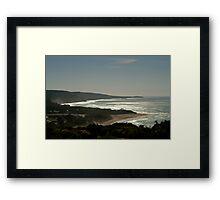 Harsh Light Anglesea,Great Ocean Rd Framed Print