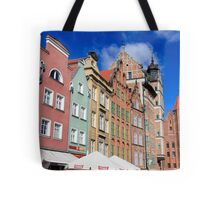 Gdansk, Poland renovated buildings near the old Town Hall Tote Bag