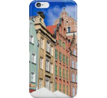 Gdansk, Poland renovated buildings near the old Town Hall iPhone Case/Skin