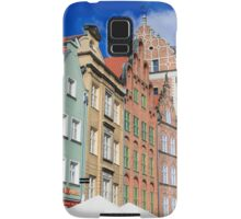 Gdansk, Poland renovated buildings near the old Town Hall Samsung Galaxy Case/Skin