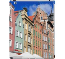 Gdansk, Poland renovated buildings near the old Town Hall iPad Case/Skin