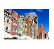 Gdansk, Poland renovated buildings near the old Town Hall Art Print