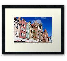 Gdansk, Poland renovated buildings near the old Town Hall Framed Print
