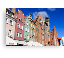 Gdansk, Poland renovated buildings near the old Town Hall Canvas Print