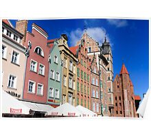 Gdansk, Poland renovated buildings near the old Town Hall Poster