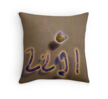 2291 crystal archive neonflash Throw Pillow