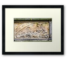 Engineering. 18th century Science bas relief  Framed Print