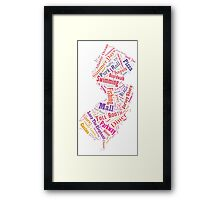New Jersey Wordle - Pink Framed Print