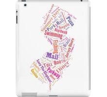 New Jersey Wordle - Pink iPad Case/Skin