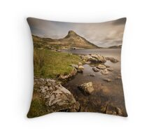Llyn Cregennen - Main lake Throw Pillow