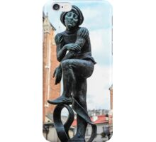 Fountain sculpture, Krakow, Poland iPhone Case/Skin