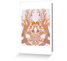 Snakes and Flowers Greeting Card