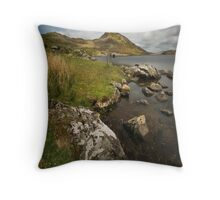 Llyn Cregennen - Along the Shore Throw Pillow