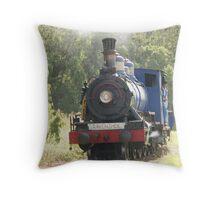 Ravenshoe Steam Train Series - Turning the Locomotive Throw Pillow