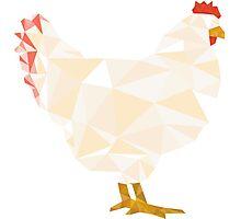 Geometric Chicken Photographic Print