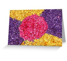 Flower carpets Greeting Card