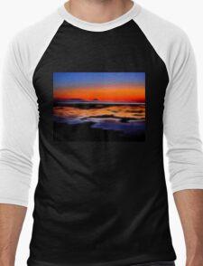 beautiful sunset seascape landscape Men's Baseball ¾ T-Shirt