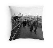 Millenium Bridge Throw Pillow