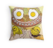 Chicken Bacon Throw Pillow