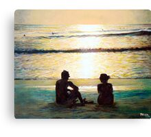 Together at sunset Canvas Print