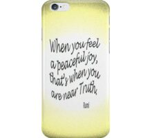 Peaceful JOY iPhone Case/Skin
