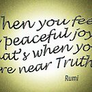 r4~ Peaceful JOY ~ Rumi by TeaseTees