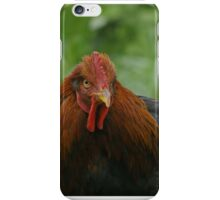 Red, the Partridge Cochin Rooster iPhone Case/Skin