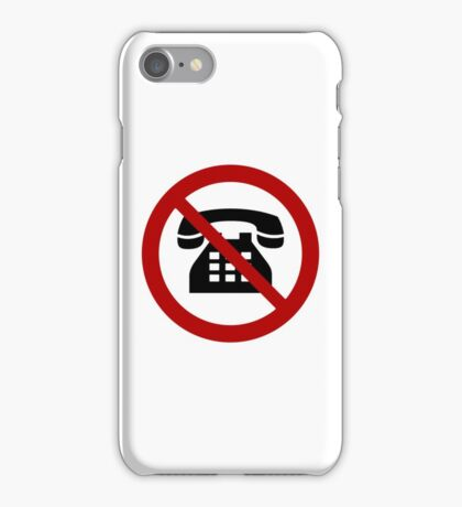 No Analog Phones Thank You iPhone Case/Skin