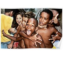 Rocinha Favela Kids, Rio de Janeiro Brazil 2009 Poster
