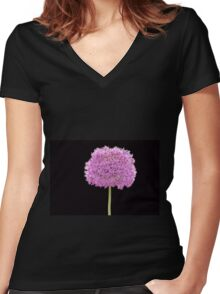 Purple Illiums Women's Fitted V-Neck T-Shirt
