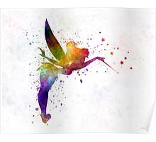 Tinkerbell in watercolor Poster