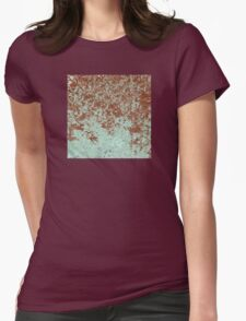 Green and Wine Abstract Design Womens Fitted T-Shirt