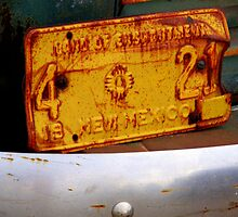 Old New Mexico License Plate by julesdavis
