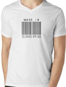 Made in Colorado Springs Mens V-Neck T-Shirt