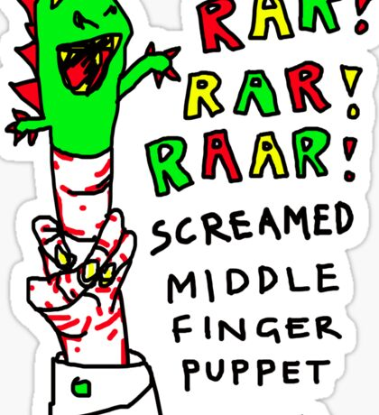 """Middle Finger Puppet"" Sticker"