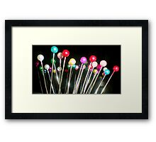 Coloured Pins Framed Print